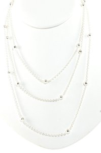 Ippolita Ippolita Long Chain Necklace Sterling Silver Mini Hammered Ball 50