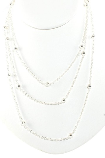 """Ippolita Ippolita Long Chain Necklace Sterling Silver Mini Hammered Ball 50"""" .925"""