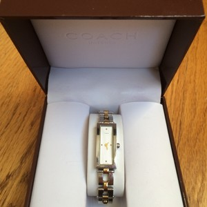 Coach Stainless Steel Coach Gold and Silver Bracelet Watch - Pre-Owned - 100% Authentic - Excellent Condition