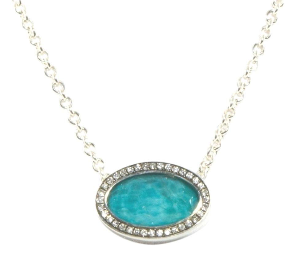 Ippolita turquoise diamond sterling silver stella oval pendant 925 ippolita ippolita turquoise diamond necklace sterling silver stella oval pendant 925 mozeypictures Image collections