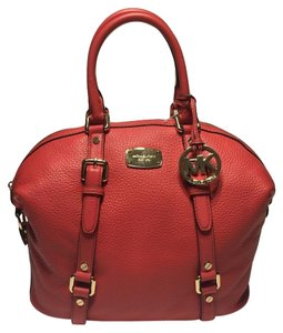 Michael Kors Bedford Satchel in Watermelon
