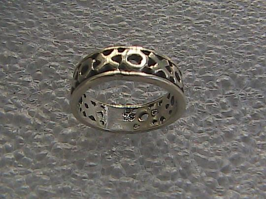 Other Vintage Sterling Silver XOXO Band Ring (#113) Image 4