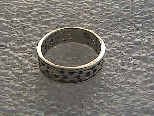 Other Vintage Sterling Silver XOXO Band Ring (#113) Image 5