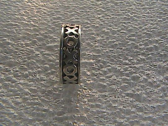 Other Vintage Sterling Silver XOXO Band Ring (#113) Image 6