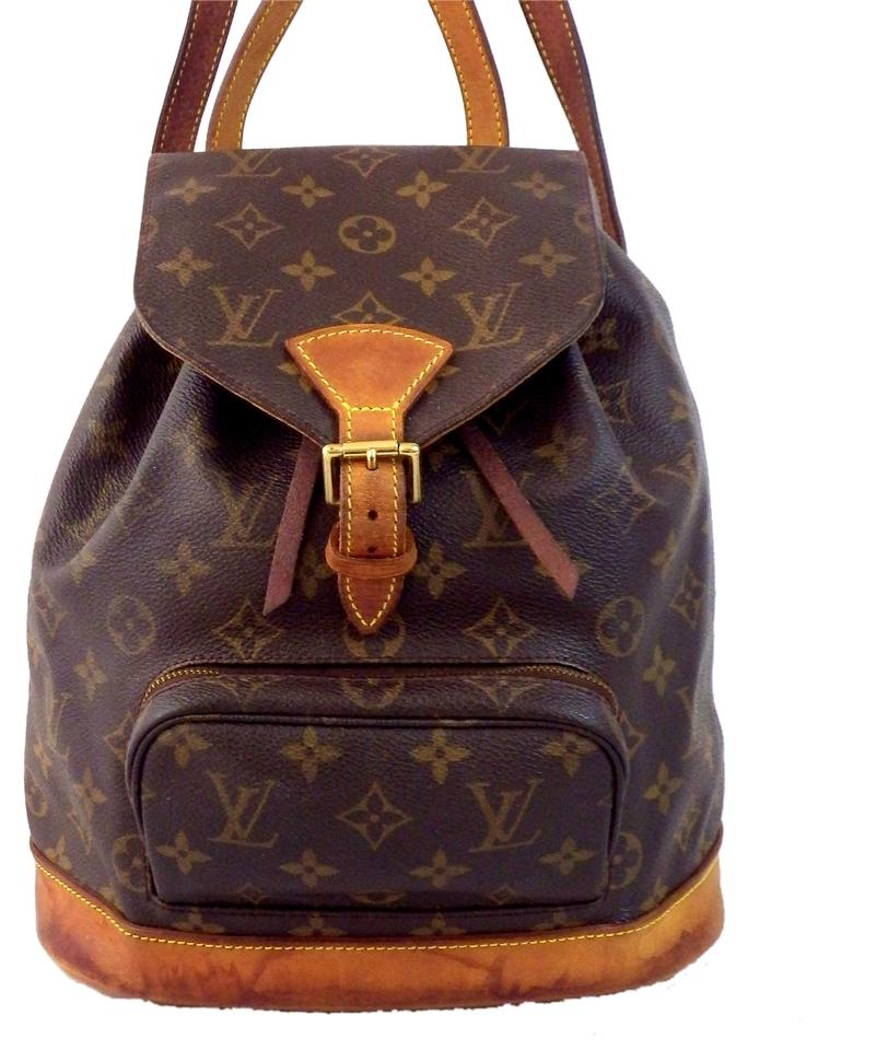 856c9f2b806b Louis Vuitton Monogram Leather Shoulder Bags Mm School Bags Weekend Travel  Bags Chic Backpack Image 0 ...