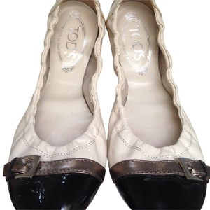 Tod's White/black copper Flats