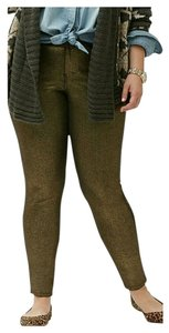 Lane Bryant Plus Size Ponte Skinny Pants gold