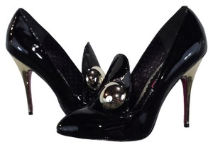 Betsey Johnson Leather Black/Silver Pumps