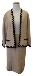 Chanel Chanel Beige Wool Skirt Suit
