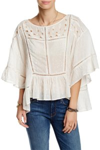 Free People Festival Boho Cotton Top Ivory