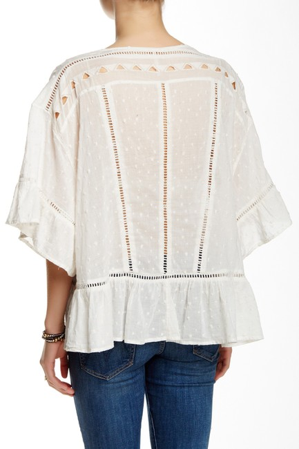 Free People Festival Boho Cotton Top Ivory Image 1