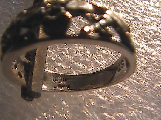Other Sterling Silver Diamond Cut Heart Ring (#114) Image 3