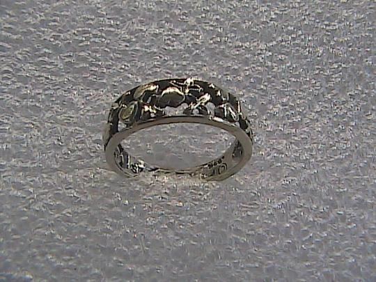 Other Sterling Silver Diamond Cut Heart Ring (#114) Image 4