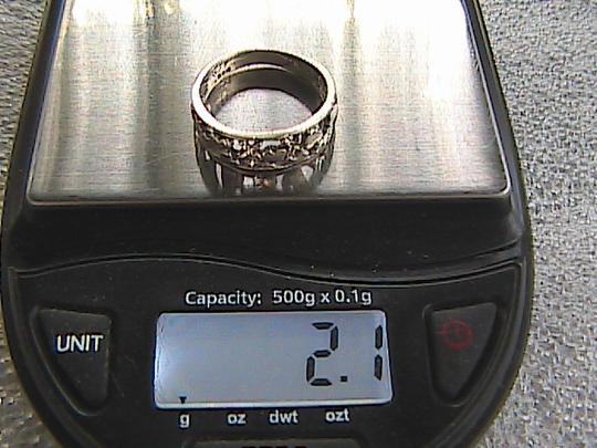 Other Sterling Silver Diamond Cut Heart Ring (#114) Image 8