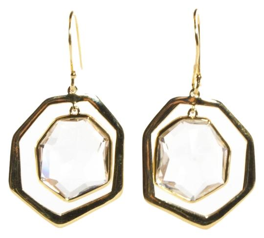 Ippolita Ippolita Clear Quartz Earrings 18K Yellow Gold Modern Rock Candy Framed Drop