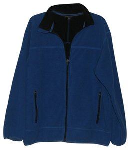 Lands End Full Front Zip Cobalt Blue Jacket