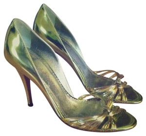 Jean-Michel Cazabat Metallic Italy Italian Green Sandals