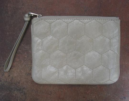 Marc by Marc Jacobs Leather Lined Wallet Wristlet Metallic Beige Clutch