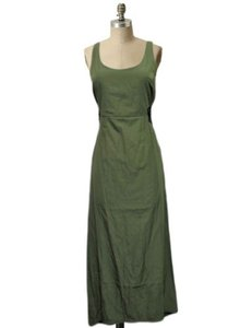 olive Maxi Dress by byCorpus Urban Outfitters Maxi Hi Low Lace Up Sides