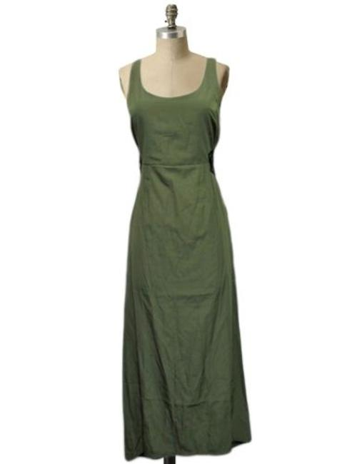 Item - Bycorpus Urban Outfitters Olive Maxi Dress Hi Low Lace Up Sides