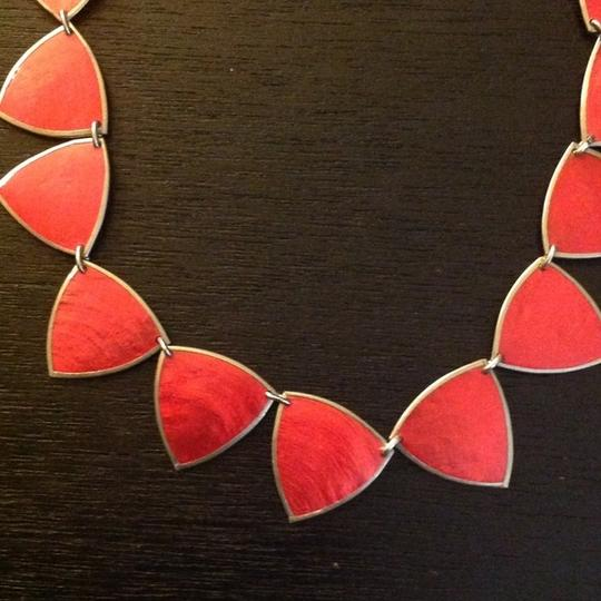 Mix Culture Red Guitar Pick Necklace