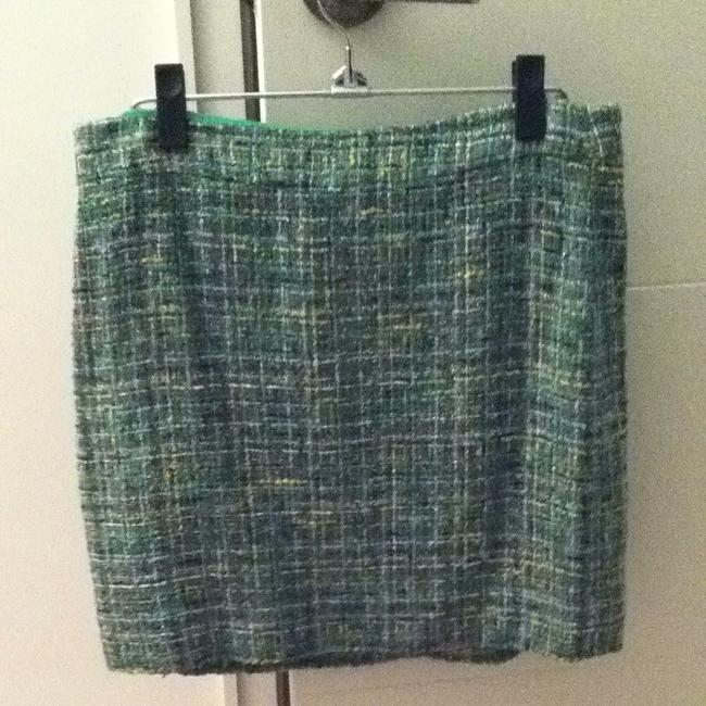 J.Crew Skirt Tweed- Green, Yellow, Brown, Gold