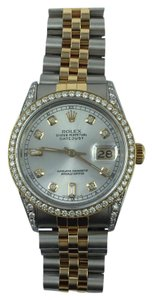Rolex Rolex Stainless Steel And Gold Mm Datejust Watch