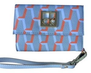 Calvin Klein Iphone 5 Detachable Strap Wristlet in Grey with white and orange print
