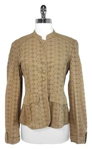 Tan Eyelet Cotton Jacket
