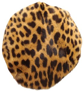 Leopard Pillbox Beret Hat