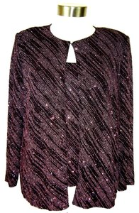 ONYX NITES Top PINK GLITTER OVER BLACK