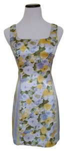 Bisou Bisou short dress Yellow,light blue grey and green on Tradesy