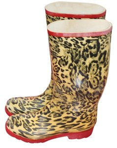 Tan and Black Zebra Pringu Boots