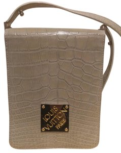 Louis Vuitton Alligator Crocodile Taupe Clutch