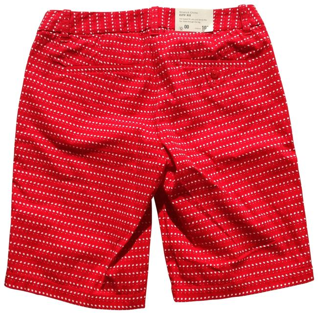 J.Crew Shorts red with white dots