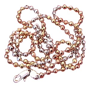 Other Fashion Rose & White Gold Filled Chain