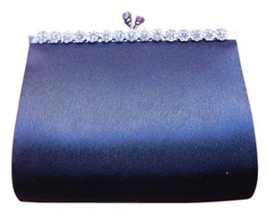Kate Landry Rhinestone Black Clutch