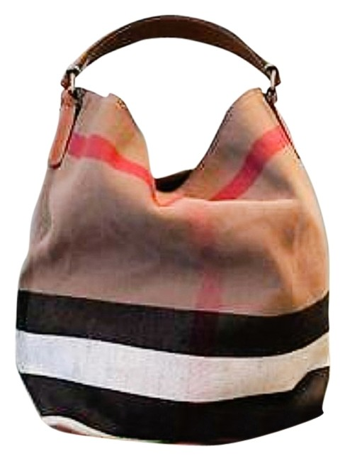 Item - Bucket Shoulder Medium Susana Mega Check Multi Color Browns Red Black Canvas Leather Jute Hobo Bag