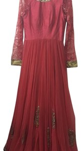 Indian/pakistani anarkali long dress with pajama and dupatta Dress