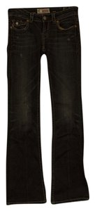 MEK Denim Distressed Boot Cut Jeans-Dark Rinse
