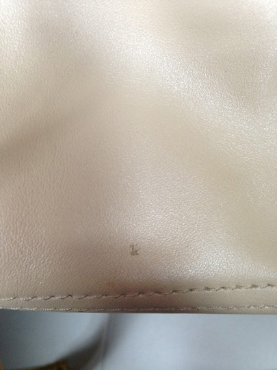 Coach Leather Satchel in Beige