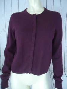 The Limited Snap Front Cotton Angora Blend Cardigan Soft Classy Sweater