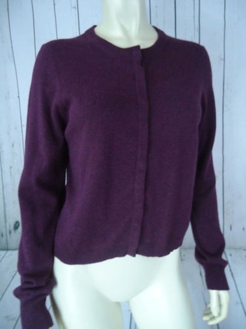 The Limited Snap Front Cotton Angora Blend Cardigan Soft Classy Sweater Image 1