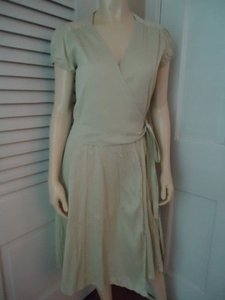 Calypso St. Barth Christiane Celle Silk Crinkle Texture Wrap Cap Slv Dress