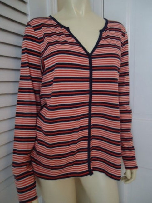 Preload https://img-static.tradesy.com/item/13585402/lilla-p-anthropologie-shirt-top-pima-cotton-from-peru-orange-blue-stripe-thin-0-0-650-650.jpg