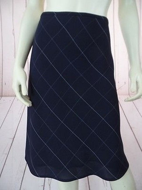Preload https://img-static.tradesy.com/item/13585423/anne-klein-skirt-navy-checked-poly-rayon-blend-straight-lined-side-zip-chic-0-0-650-650.jpg