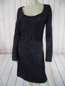 White House | Black Market short dress Black Metallic Sweater Metallic Sparkle on Tradesy