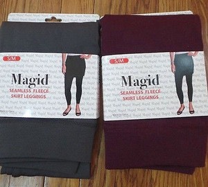 Other Lot Magid Seamless Fleece Skirt Leggings Sm Stretch Knit New Pants
