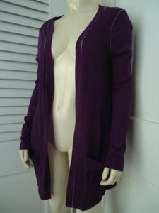 Moda International Wrap Sheer Cotton Uneven Hi Lo Hem Boho Sweater
