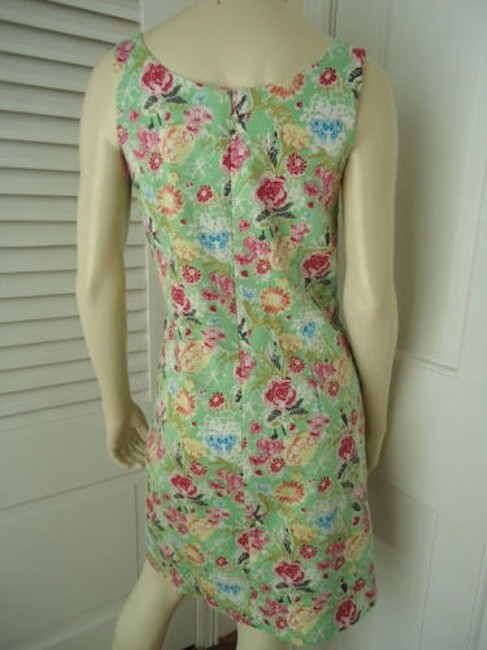 Other Yuka Resort Cotton Spandex Sheath Floral Butterfly Print Dress Image 5